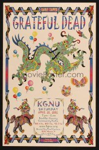 7x046 GRATEFUL DEAD radio poster '02, funky artwork of dragons & butterflies!