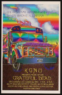 7x049 GRATEFUL DEAD radio poster '97 cool Chris O'Riley artwork of bus!