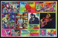7x051 GRATEFUL DEAD radio poster '99 cool colorized images of band & art of rose!
