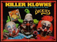 7x068 KILLER KLOWNS FROM OUTER SPACE 18x24 music poster '88 Cramer, Suzanne Snyder, Alien bozos!