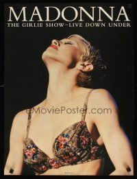 7x072 MADONNA 18x24 music poster '94 image of sexy singer wearing fancy bra, The Girlie Show!