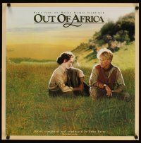 7x073 OUT OF AFRICA soundtrack music poster '85 Redford & Meryl Streep, directed by Sydney Pollack!