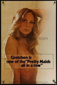 7x036 PRETTY MAIDS ALL IN A ROW teaser 1sh '71 sexy cheerleader Gretchen Parsons Carpenter!