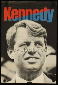 7x038 ROBERT F. KENNEDY FOR PRESIDENT 12x18 political campaign '68 he would've won had he lived!