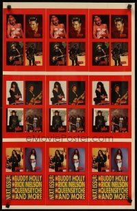 7x078 ROCK STREET PROMO CARDS 2-sided uncut 19x30 music poster '91 Elvis, Madonna & more!
