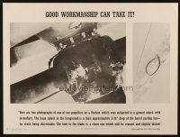 7x024 GOOD WORKMANSHIP CAN TAKE IT 19x25 WWII war poster '40s images of damaged props!