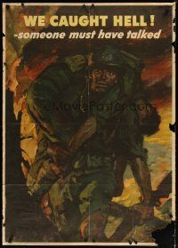 7x015 WE CAUGHT HELL 28x40 WWII war poster '44 Saul Tepper art of soldier carrying wounded man!
