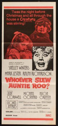 8c967 WHO SLEW AUNTIE ROO Aust daybill 71 mad Shelley Winters say goodnight its dead time