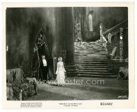 8k270 DRACULA 8x10 still R51 Tod Browning classic, vampire Bela Lugosi & Helen Chandler in castle!