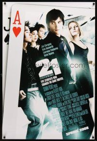 8s007 21 advance DS 1sh '08 Jim Strugess, Kevin Spacey, Kate Bosworth, gambling!