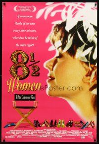 8s013 8 1/2 WOMEN 1sh '99 Peter Greenaway directed, every man thinks of sex once every 9 minutes!