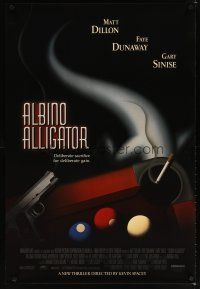 8s019 ALBINO ALLIGATOR 1sh '96 directed by Kevin Spacey, Matt Dillon, art of pool table & gun!