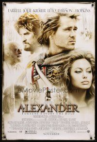 8s020 ALEXANDER advance DS 1sh '04 directed by Oliver Stone, Colin Farrell & sexy Angelina Jolie!