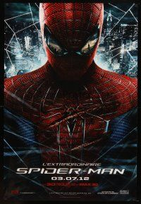 8s026 AMAZING SPIDER-MAN teaser DS FrenchUS 1sh '12 Andrew Garfield in title role!