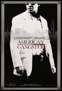 8s028 AMERICAN GANGSTER teaser 1sh '07 close-up of Russell Crowe, Ridley Scott directed!