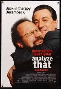 8s030 ANALYZE THAT advance 1sh '02 directed by Harold Ramis, c/u of De Niro & Crystal!