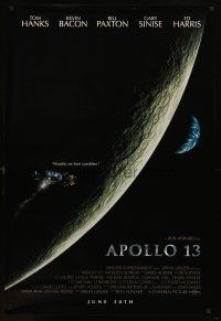 8s037 APOLLO 13 advance 1sh '95 directed by Ron Howard, Tom Hanks, Houston, we have a problem!