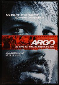 8s039 ARGO teaser DS 1sh '12 Ben Affleck, based on the declassified true story!