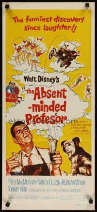 8t368 ABSENT-MINDED PROFESSOR Aust daybill R70s Walt Disney, Flubber, Fred MacMurray in title role!