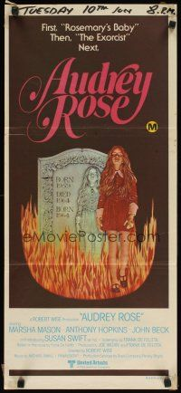 8t390 AUDREY ROSE Aust daybill '77 Susan Swift, Anthony Hopkins, haunting vision of reincarnation!
