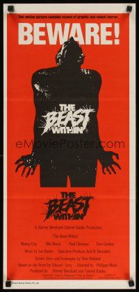 8t408 BEAST WITHIN Aust daybill '82 BEWARE! This motion picture contains graphic & violent horror!