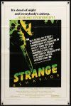 9b847 STRANGE BEHAVIOR 1sh '81 Michael Murphy, Louise Fletcher, slasher horror art!