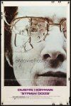 9b849 STRAW DOGS int'l 1sh '72 directed by Sam Peckinpah, c/u of Dustin Hoffman w/broken glasses