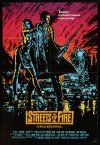 9b850 STREETS OF FIRE 1sh '84 Walter Hill shows what it is like to be young tonight, cool art!