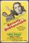 9b851 STRICTLY DISHONORABLE 1sh '51 what are Ezio Pinza's intentions toward Janet Leigh?