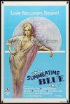 9b859 SUMMERTIME BLUE 1sh '78 Samantha Fox, John Holmes, Serena, sexy artwork!