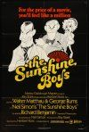 9b860 SUNSHINE BOYS 1sh '75 great Hirschfeld art of George Burns, Walter Matthau & Lee Meredith!