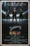9b862 SUPERMAN II teaser 1sh '81 Christopher Reeve, Terence Stamp, cool image of villains!
