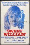 9b867 SWEET WILLIAM 1sh '82 cool Beauvais art of Sam Waterston, pretty Jenny Agutter!