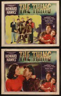 9f060 THING 8 LCs '51 Howard Hawks classic horror, natural or supernatural, from another world!