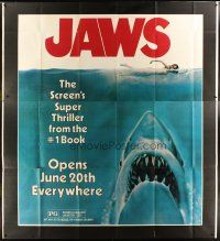 9g105 JAWS advance 83x91 '75 art of Steven Spielberg's shark attacking swimmer, never before seen!