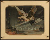 9g113 THIEF OF BAGDAD 1/2sh '24 incredible Anton Grot art of Douglas Fairbanks flying on pegasus!