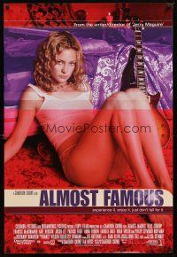 9w024 ALMOST FAMOUS int'l DS 1sh '00 Crowe directed, different image of super-sexy Kate Hudson!
