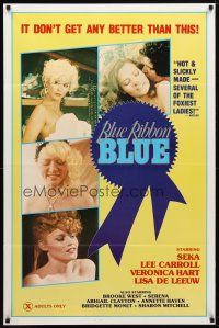9w069 BLUE RIBBON BLUE 1sh '85 Seka, Annette Haven, x-rated doesn't get any better than this!