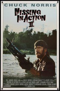 9w076 BRADDOCK: MISSING IN ACTION III int'l 1sh '88 great image of Chuck Norris w/machine gun!