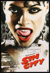9w004 SIN CITY teaser DS 1sh '05 graphic novel by Frank Miller, sexy Rosario Dawson as Gail!