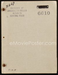 1a002 100 MEN & A GIRL script May 12, 1937 screenplay by Charles Kenyon, nominated for Best Picture