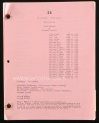 1a003 24 TV revised draft script + crew card June 26, 2002, screenplay by Surnow & Loceff!