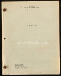 1a004 5 CARD STUD final draft script December 14, 1967, screenplay by Marguerite Roberts!