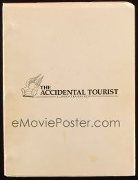 1a005 ACCIDENTAL TOURIST revised final draft script October 30, 1987, screenplay by Lawrence Kasdan
