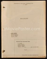 1a006 ACE IN THE HOLE final white script July 6, 1950, screenplay by Billy Wilder, Samuels & Newman