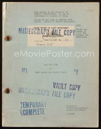 1a008 ADAM'S RIB script January 26, 1949, screenplay by Ruth Gordon & Garson Kanin