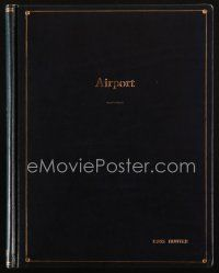 1a009 AIRPORT final draft script 1969 screenplay by George Seaton, cool deluxe cover!