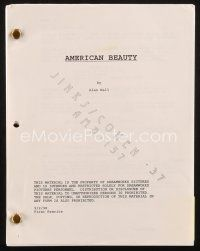 1a013 AMERICAN BEAUTY final rewrite script September 2, 1998, screenplay by Alan Ball