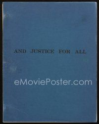 1a014 AND JUSTICE FOR ALL first draft script 1979 screenplay by Barry Levinson & Valerie Curtain!