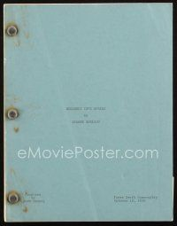 1a015 BACHELOR & THE BOBBY-SOXER first draft script October 12, 1945, screenplay by Sidney Sheldon!